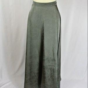 Metallic Gray Maxi Skirt Semi Formal